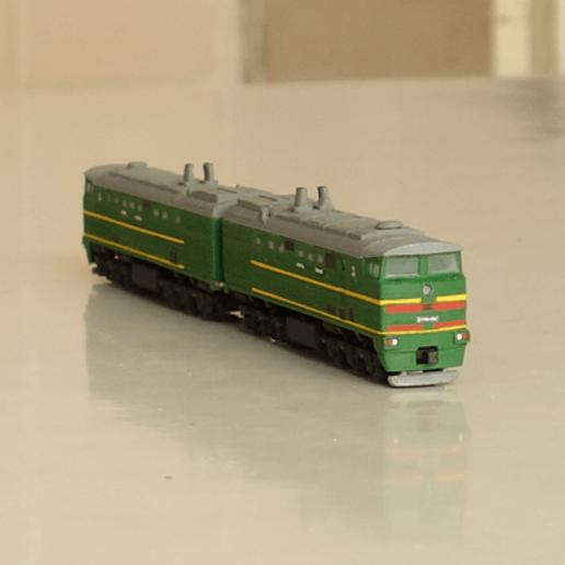 Download free STL file 2TE10M diesel locomotive 1:100 • Model to 3D print, polkin