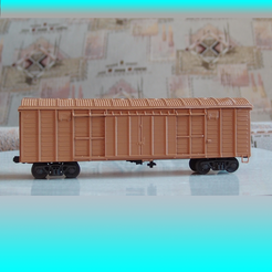 Download free STL file SZHD/RZHD boxcar 1:87 (H0) • 3D printer design, polkin