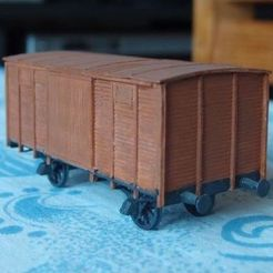Download free STL file Boxcar 1:87 (H0) • 3D print template, polkin