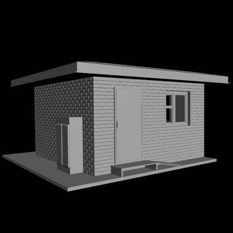 Post.png Download free STL file Railway crossing post building H0 • Design to 3D print, polkin