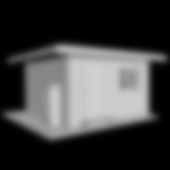 Download free 3D printing designs Railway crossing post building H0, polkin