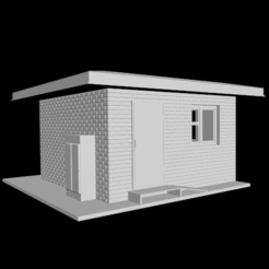 Download free 3D printing designs Railway crossing post building H0, polkin