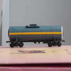Free 3D printer designs Tank car for caprolactam 1:200, polkin