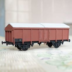 Download free STL file DB wagon with sliding roof 1:87 (H0) • 3D printable template, polkin
