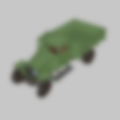 GAZ-MM-V-28-CargoBed.stl Download free STL file GAZ-MM-V wartime truck 1:56 (28mm) • 3D printing object, polkin
