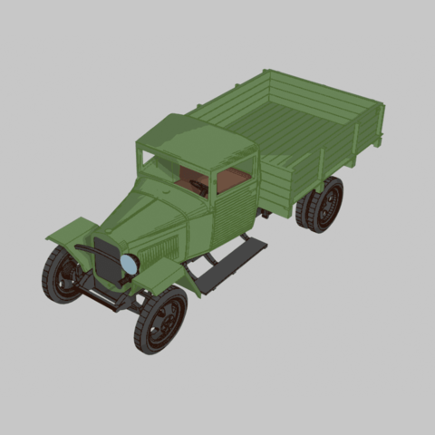g28-C.png Download free STL file GAZ-MM-V wartime truck 1:56 (28mm) • 3D printing object, polkin