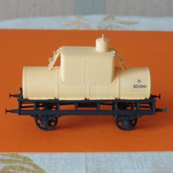 Download free STL file Old tank car 1:87 (H0) • Template to 3D print, polkin