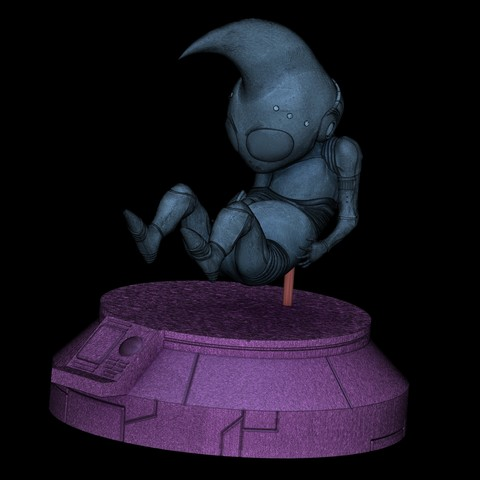 Render 13.jpg Download STL file Dragon Ball GT Baby • 3D print object, Shukito