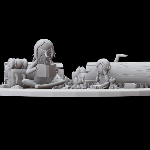 Render 2.jpg Download STL file Adventure Time Diorama • 3D printer design, Shukito