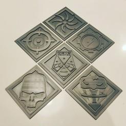 Download 3D printing models XCOM 2 Coaster Set, stefwill
