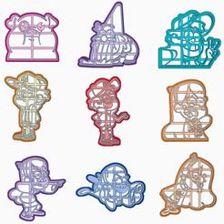 AWDAWD.png Télécharger fichier STL 9 PAQUETS TOMBENT PAR GRAVITÉ DANS UN MOULE À BISCUITS • Design pour imprimante 3D, HIPERWIL