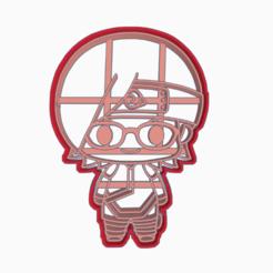 Descargar archivos STL SADARA UCHIHA - COOKIE CUTTER BORUTO NARUTO NEXT GENERATIONS, WILMERESCOBAL