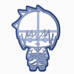 Descargar modelos 3D para imprimir SASUKE UCHIHA - COOKIE CUTTER / NARUTO SHIPPUDEN , WILMERESCOBAL