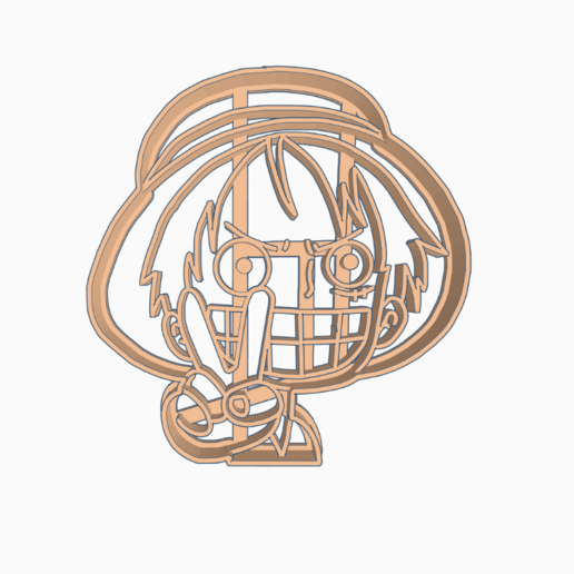 Download 3D printing templates LUFFY 1 - COOKIE CUTTER ONE PIECE ANIME CHIBI, WILMERESCOBAL