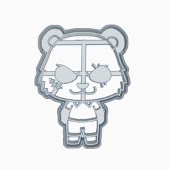 Download STL file GOUHIN - COOKIE CUTTER / ANIME / BEASTARS, HIPERWIL