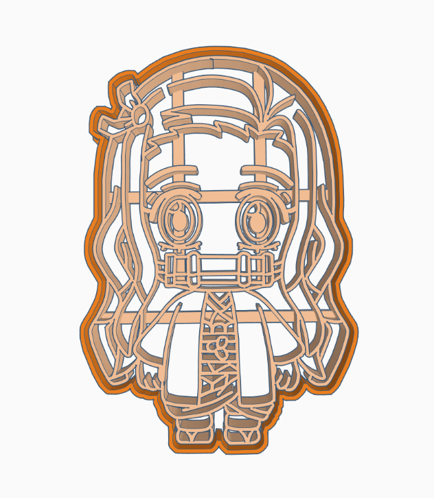 dfgdfhdj.png Download free STL file NEZUKO 6 CUTTER COOKIE ANIME DEMON SLAYER'S / KIMETSU NO YAIBA • 3D print template, HIPERWIL