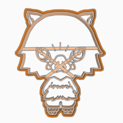 dhhjkkilil.png Download STL file INOSUKE HASHIBIRA 1 COOKIE CUTTER ANIME DEMON SLAYER'S / KIMETSU NO YAIBA • Template to 3D print, HIPERWIL