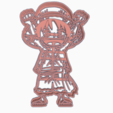 Download 3D printer templates LUFFY 2 - COOKIE CUTTER ONE PIECE ANIME CHIBI, WILMERESCOBAL