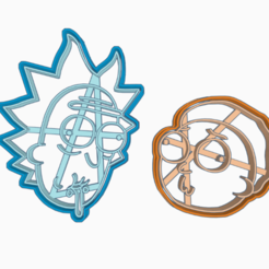Download 3D printer model RICK AND MORTY 2 COOKIE CUTTER / RICK AND MORTY - RICK AND MORTY/ COOKIE CUTTER, HIPERWIL