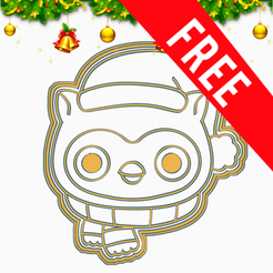 GIF.png Download free STL file OWL COOKIE CUTTER • Object to 3D print, SinTiempoLibre