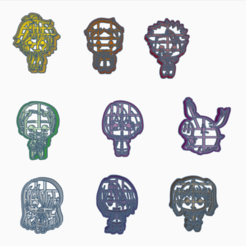 Download STL file PACK 9 MODELS COOKIE CUTTER NANATSU NO TAIZAI • 3D printable object, HIPERWIL