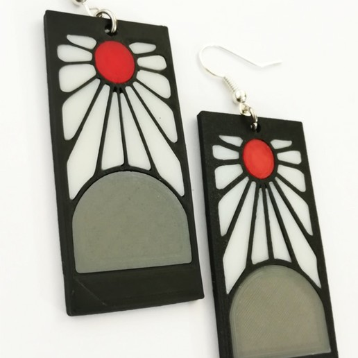 Download Stl File Demon Slayer S Kimetsu No Yaiba Tanjiro Earrings Anime Object To 3d Print Cults Check out our demon slayer earrings selection for the very best in unique or custom, handmade pieces from our dangle & drop earrings shops. tanjiro earrings anime