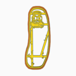 Download free 3D printer designs PICKLE RICK - COOKEI CUTTER- PICKLE RICK - RICK AND MORTY, WILMERESCOBAL
