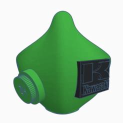 máscara kawasaki.png Download STL file KAWASAKI MASK • 3D print model, cesarallende092