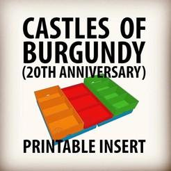 07CC1E23-2C82-46FA-AD92-B0C1FD267FF7.jpeg Télécharger fichier STL Les châteaux de Bourgogne (20e anniversaire) Mise en place et insertion de jeu • Modèle imprimable en 3D, shapesquad