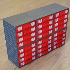 Download free 3D printing designs Stackable Resistor Storage Box, bramv