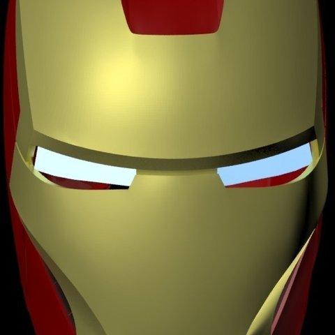 Télécharger plan imprimante 3D gatuit Casque Iron Man Mark III, drumguy560