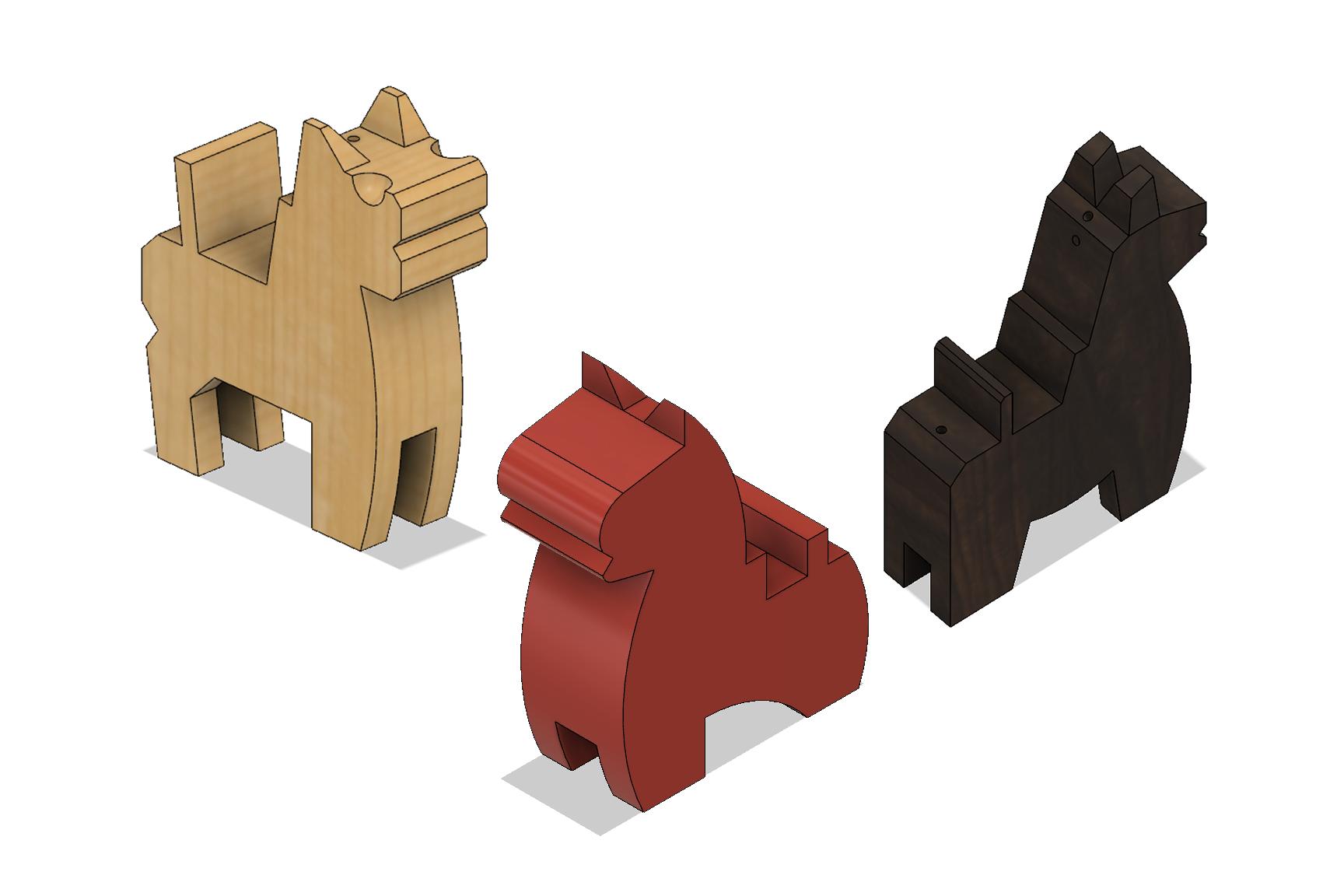 Horses.png Download STL file Japanese Toy Horses • 3D print object, httpkoopa