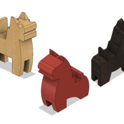 Download 3D printer designs Japanese Toy Horses, httpkoopa