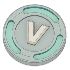 Télécharger plan imprimante 3D Modèle de pièce de monnaie V-Bucks, httpkoopa