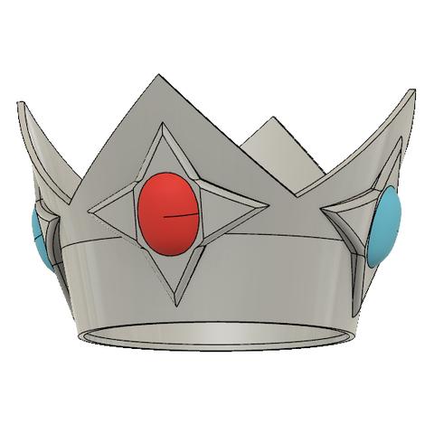 Rosalina Crown 6.PNG Télécharger fichier STL Couronne de la princesse étoile Rosalina • Objet pour imprimante 3D, httpkoopa