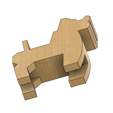 HorseB3.PNG Download STL file Japanese Toy Horses • 3D print object, httpkoopa