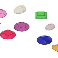 Download STL file Steven Universe Cosplay Gem Set • 3D printable object, httpkoopa