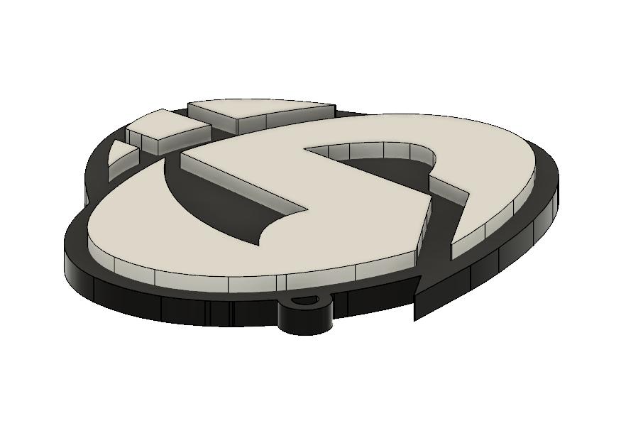 Team Skull Pendant 3.PNG Download STL file Team Skull Pendant • 3D printing template, httpkoopa