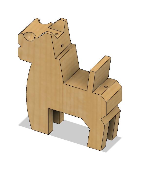 HorseB2.PNG Download STL file Japanese Toy Horses • 3D print object, httpkoopa