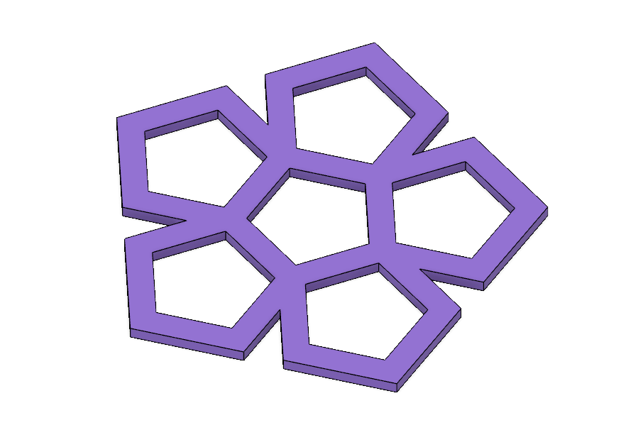 Pentagon 1.PNG Download STL file Coaster Set (Geometric Shapes and Scribbles) • Design to 3D print, httpkoopa