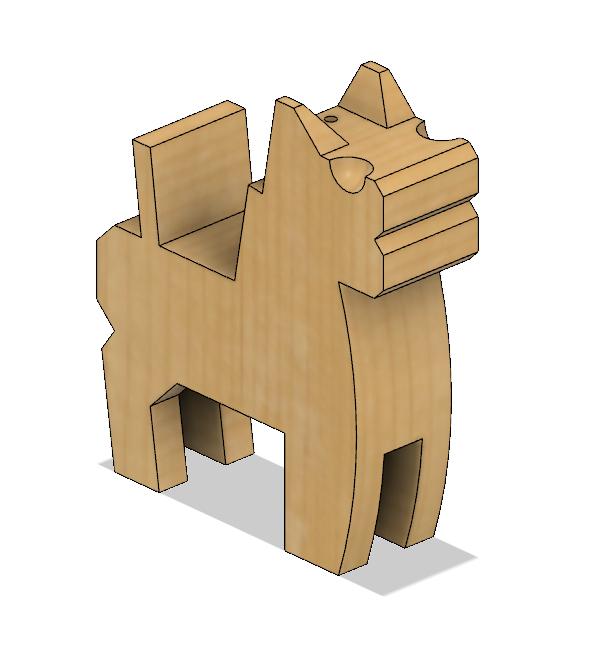 HorseB4.PNG Download STL file Japanese Toy Horses • 3D print object, httpkoopa