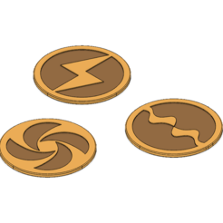 Download 3D printer designs Link Medallions and Coasters, httpkoopa