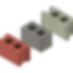 Mini Cinder Block - Double Corner.stl Download free STL file Free Mini Cinder Blocks • 3D printing model, httpkoopa