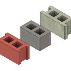 Download free 3D printing templates Free Mini Cinder Blocks, httpkoopa