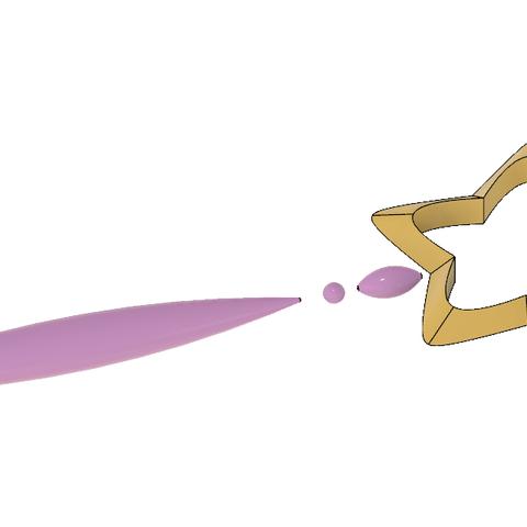DAOKO GIRL Star Wand 7.PNG Télécharger fichier STL Baguette DAOKO Girl Star • Design à imprimer en 3D, httpkoopa
