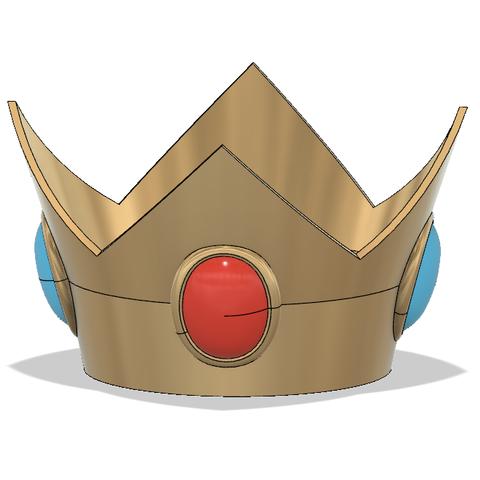Peach Crown 3.PNG Download STL file Princess Peach Crown • 3D print design, httpkoopa