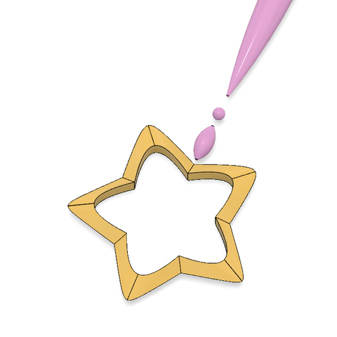 DAOKO GIRL Star Wand 5.PNG Télécharger fichier STL Baguette DAOKO Girl Star • Design à imprimer en 3D, httpkoopa