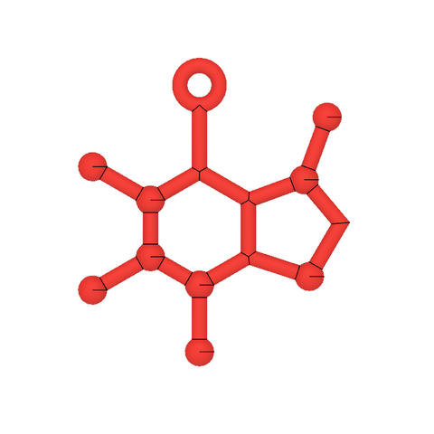 Caffeine Molecule Ornament 2.PNG Download free STL file Free Caffeine Molecule Ornament • 3D print design, httpkoopa
