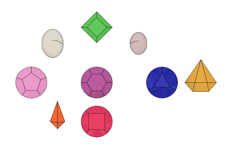Gems 2.PNG Download STL file Steven Universe Cosplay Gem Set • 3D printable object, httpkoopa