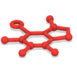 Download free 3D printing designs Free Caffeine Molecule Ornament, httpkoopa